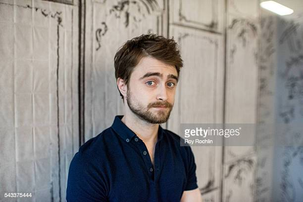 Actor Daniel Radcliffe discusses his new film 'Swiss Army Man' with AOL Build at AOL Studios In New York on June 27 2016 in New York City