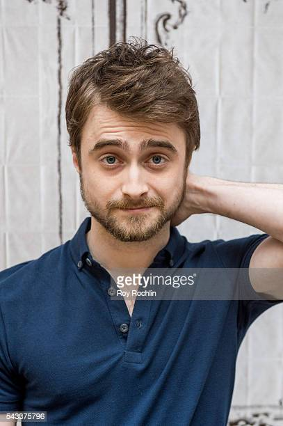 Actor Daniel Radcliffe discusses his new film Swiss Army Man with AOL Build at AOL Studios In New York on June 27 2016 in New York City