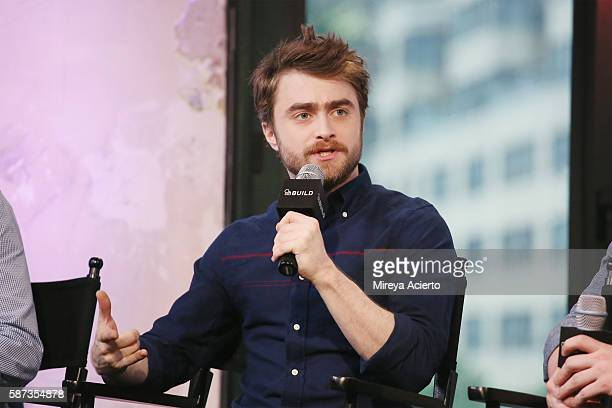 Actor Daniel Radcliffe discusses the new film 'Imperium' at AOL HQ on August 8 2016 in New York City