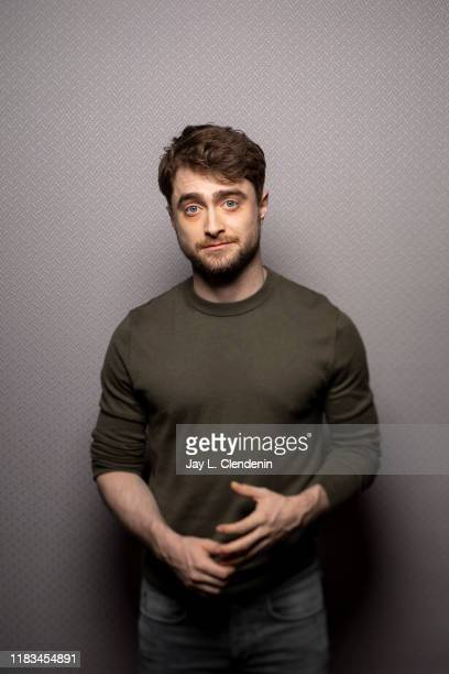 Actor Daniel Radcliffe from 'Guns Akimbo' is photographed for Los Angeles Times on September 9, 2019 at the Toronto International Film Festival in...