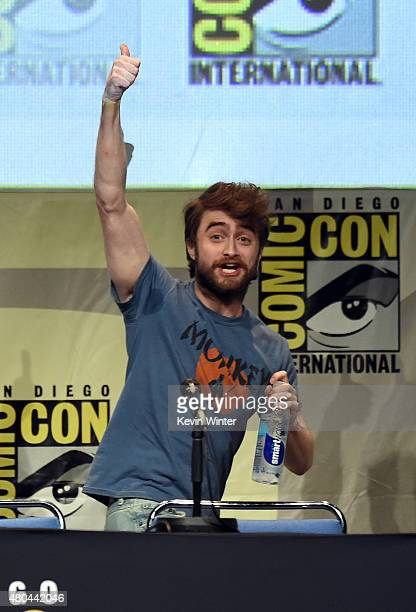 Actor Daniel Radcliffe from 'Victor Frankenstein' speaks onstage at the 20th Century FOX panel during ComicCon International 2015 at the San Diego...