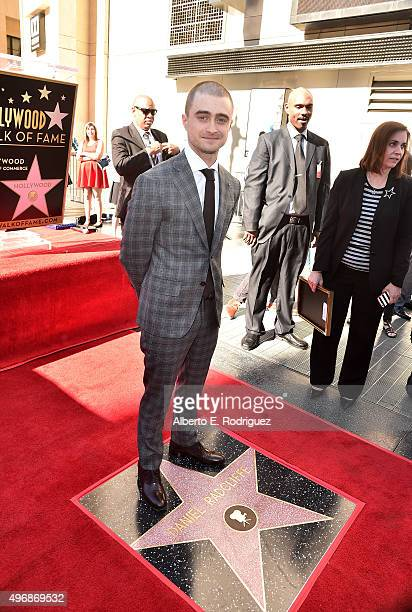 Actor Daniel Radcliffe is honored with a star on the Hollywood Walk of Fame on November 12 2015 in Hollywood California