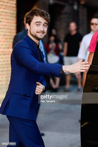 Actor Daniel Radcliffe leaves 'The Late Show With Stephen Colbert' taping at the Ed Sullivan Theater on June 14 2016 in New York City
