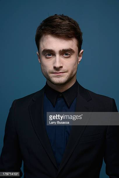 Actor Daniel Radcliffe of 'Horns' poses at the Guess Portrait Studio during 2013 Toronto International Film Festival on September 6 2013 in Toronto...