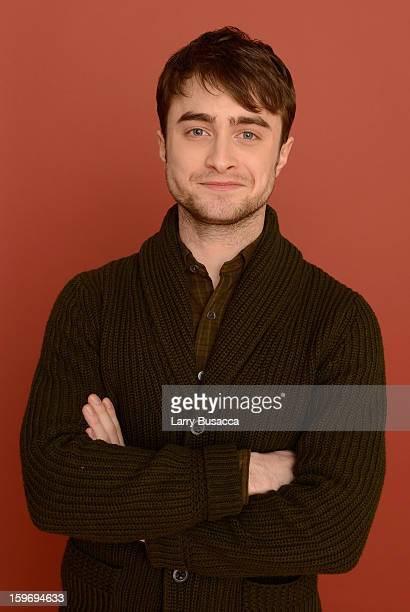 Actor Daniel Radcliffe poses for a portrait during the 2013 Sundance Film Festival at the Getty Images Portrait Studio at Village at the Lift on...