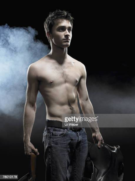 Actor Daniel Radcliffe poses for a portrait shoot for the Gielgud theatre's production of Equus in London on February 3 2007