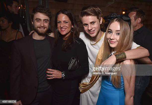 Actor Daniel Radcliffe producer Cathy Schulman actor Mitchell Kummen and actress Sabrina Carpeenter attend the after party for the premiere of...
