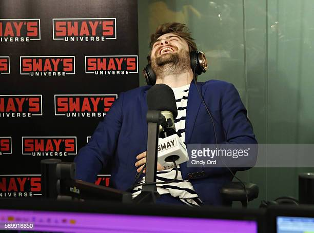 Actor Daniel Radcliffe visits 'Sway in the Morning' with Sway Calloway on Eminem's Shade 45 at the SiriusXM Studios on August 15 2016 in New York City