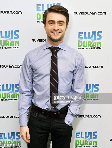 Actor Daniel Radcliffe visits 'The Elvis Duran Z100 Morning Show' at Z100 Studio on January 30 2012 in New York City
