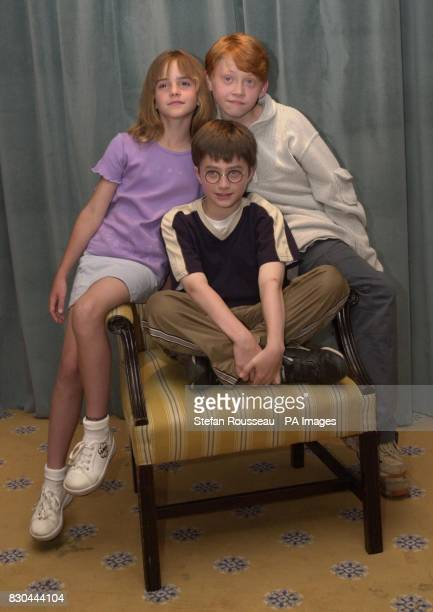 Actor Daniel Radcliffe who is to play Harry Potter in the film Harry Potter and the Sorcerer's Stone based on the book by J K Rowling with costars...