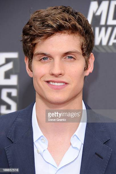Actor Daniel Sharman arrives at the 2013 MTV Movie Awards at Sony Pictures Studios on April 14 2013 in Culver City California