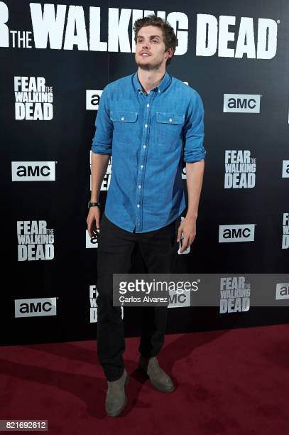 Actor Daniel Sharman attends 'Fear The Walking Dead' fan event at the Callao cinema on July 24 2017 in Madrid Spain