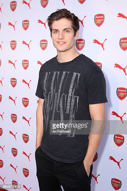 Actor Daniel Sharman attends PUMA and Arsenal Football Club 2016/17 AFC Away Third Kit reveal event on July 29 2016 in Culver City California