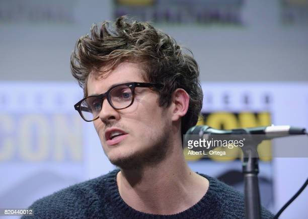 Actor Daniel Sharman speaks onstage at ComicCon International 2017 AMC's Fear The Walking Dead Panel at San Diego Convention Center on July 21 2017...