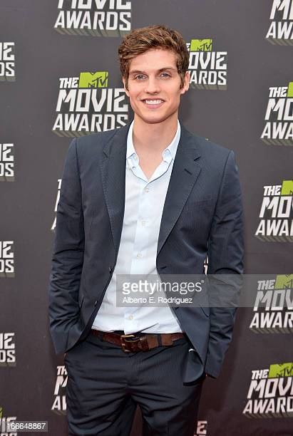 Actor Daniel Sherman arrives at the 2013 MTV Movie Awards at Sony Pictures Studios on April 14 2013 in Culver City California