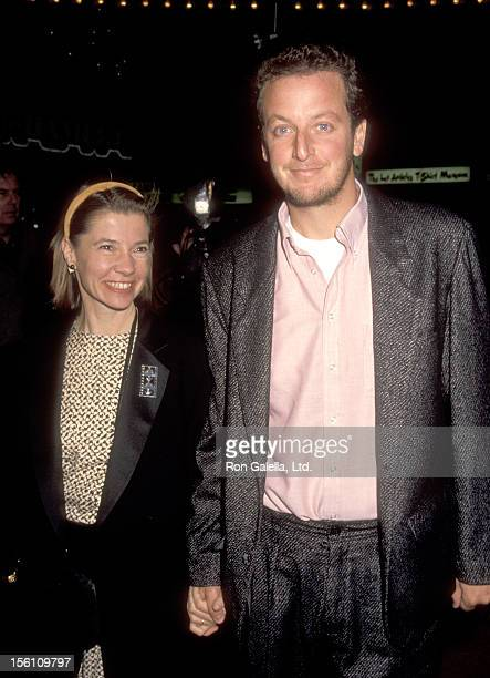 Actor Daniel Stern and wife Laure Mattos attend 'The Bonfire of the Vanities' Westwood Premiere on December 19, 1990 at Mann Bruin Theatre in...