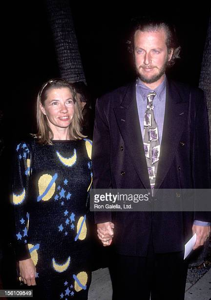 Actor Daniel Stern and wife Laure Mattos attend the 'For the Boys' Beverly Hills Premiere on November 14, 1991 at Academy Theatre in Beverly Hills,...