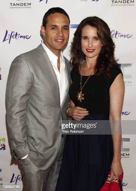 Actor Daniel Sunjata and actress Andie MacDowell attend ''Patricia Cornwell's The Front'' New York Premiere at the Hearst Tower on April 7, 2010 in...