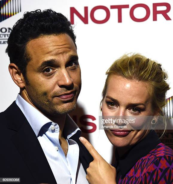 Actor Daniel Sunjata and actress Piper Perabo arrive at the premiere of ABC's 'Notorious' at 10e Restaurant on September 20 2016 in Los Angeles...
