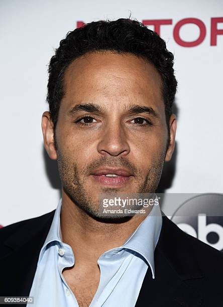 Actor Daniel Sunjata arrives at the premiere of ABC's 'Notorious' at 10e Restaurant on September 20 2016 in Los Angeles California