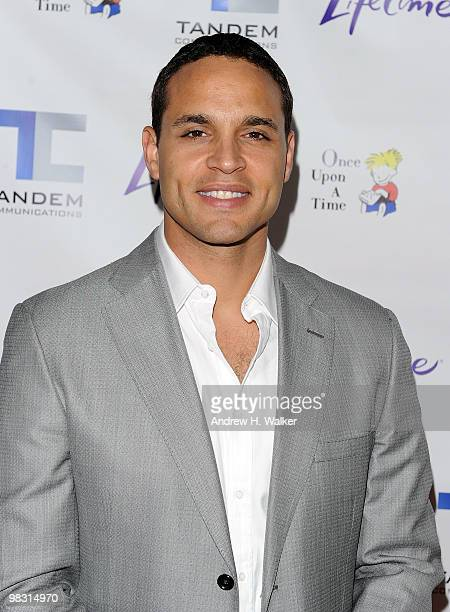 """Actor Daniel Sunjata attends the screening of the Lifetime Original Movie """"Patricia Cornwell's The Front"""" at Hearst Tower on April 7, 2010 in New..."""