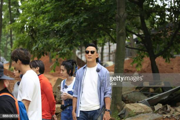 Actor Daniel Wu attends an opening ceremony of a reality show on May 25 2017 in Tongling Anhui Province of China