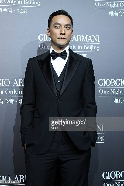 Actor Daniel Wu attends Armani fashion show at 798 Art Zone on May 31 2012 in Beijing China