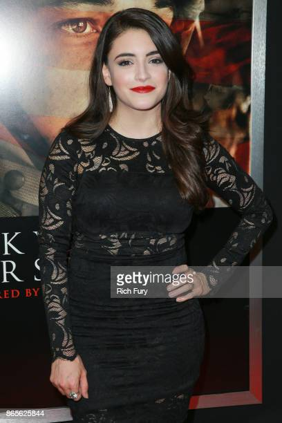Actor Daniela Bobadilla attends the premiere of DreamWorks Pictures and Universal Pictures' 'Thank You For Your Service' at Regal LA Live Stadium 14...