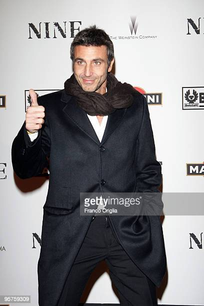 Actor Daniele Liotti attends the Rome Premiere Party of 'NINE' cohosted by Belstaff at the Auditorium della Conciliazione on January 13 2010 in Rome...
