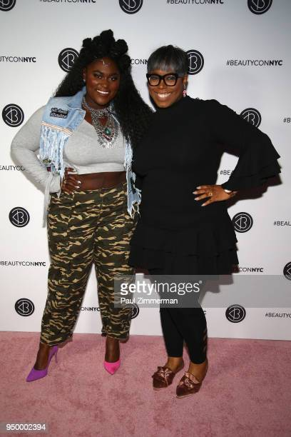 Actor Danielle Brooks and Ty Alexander attends Beautycon Festival NYC 2018 Day 2 at Jacob Javits Center on April 22 2018 in New York City