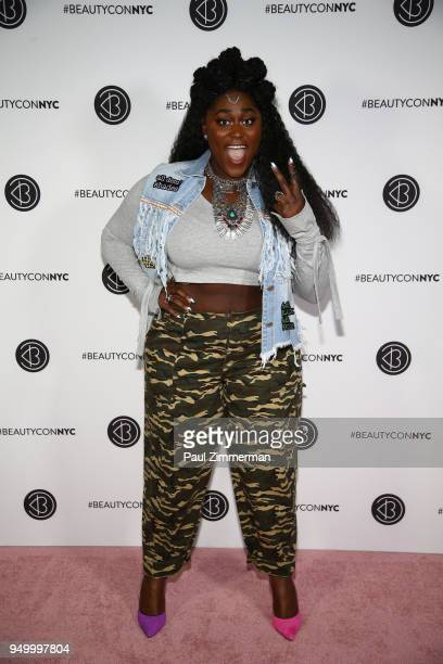 Actor Danielle Brooks attends Beautycon Festival NYC 2018 Day 2 at Jacob Javits Center on April 22 2018 in New York City