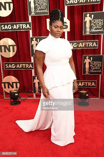 Actor Danielle Brooks attends The 23rd Annual Screen Actors Guild Awards at The Shrine Auditorium on January 29 2017 in Los Angeles California...