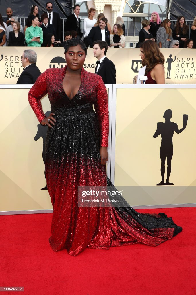 Actor Danielle Brooks attends the 24th Annual Screen Actors Guild Awards at The Shrine Auditorium on January 21, 2018 in Los Angeles, California. 27522_017