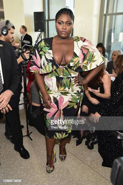 Actor Danielle Brooks attends the Christian Siriano front row during New York Fashion Week The Shows at Top of the Rock on February 9 2019 in New...