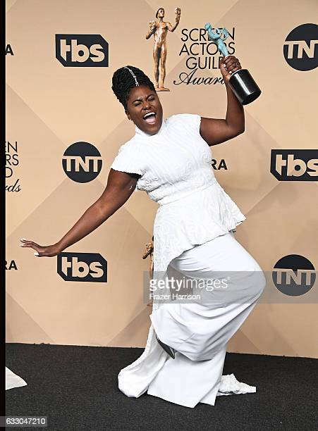 Actor Danielle Brooks cowinner of the Outstanding Performance by an Ensemble in a Comedy Series award for 'Orange Is the New Black' poses in the...
