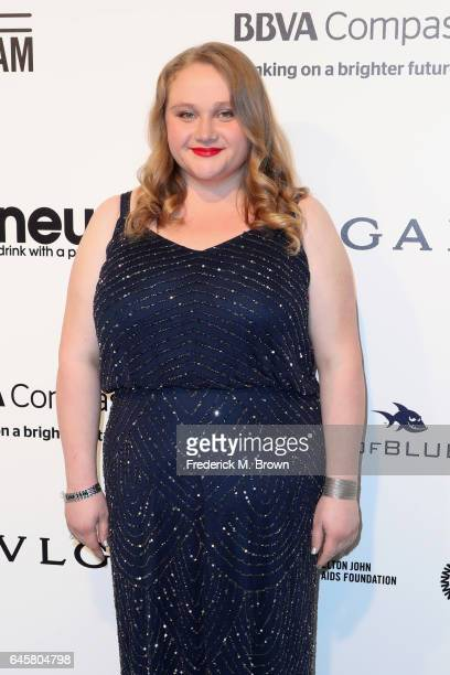 Actor Danielle Macdonald attends the 25th Annual Elton John AIDS Foundation's Academy Awards Viewing Party at The City of West Hollywood Park on...