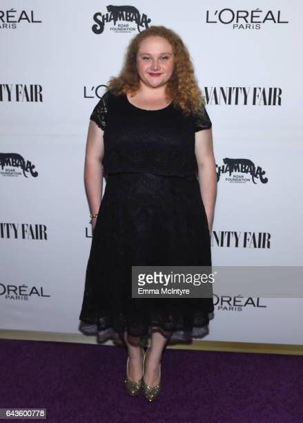 Actor Danielle Macdonald attends Vanity Fair and L'Oreal Paris Toast to Young Hollywood hosted by Dakota Johnson and Krista Smith at Delilah on...