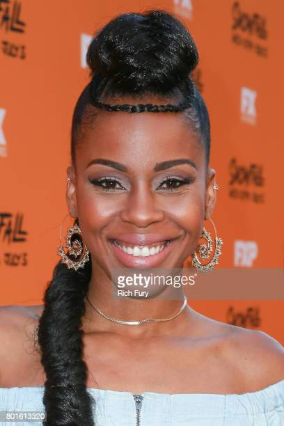 Actor Danielle Mone Truitt attends the premiere of FX's Snowfall at The Theatre at Ace Hotel on June 26 2017 in Los Angeles California