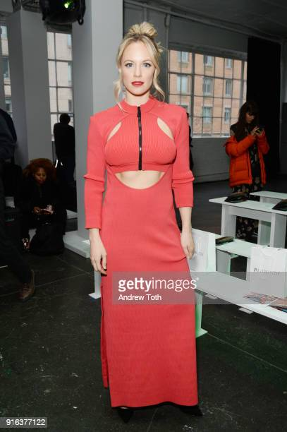 Actor Danielle Savre attends the Chromat AW18 front row during New York Fashion Week at Industria Studios on February 9 2018 in New York City
