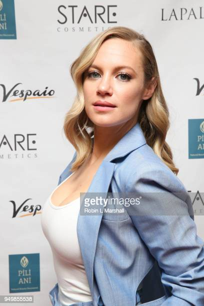 Actor Danielle Savre attends the LaPalme Magazine Spring Issue Launch at Vespaio on April 21 2018 in Los Angeles California