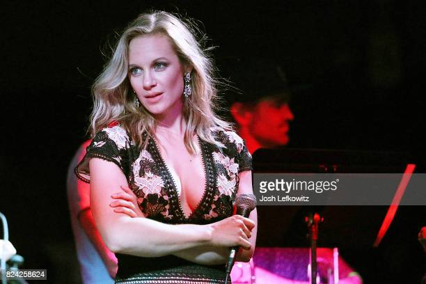 Actor Danielle Savre hosts the #BurnItDown Marcelle Erian Cancer Foundation Benefit event at Borderline Bar Grill on July 28 2017 in Thousand Oaks...