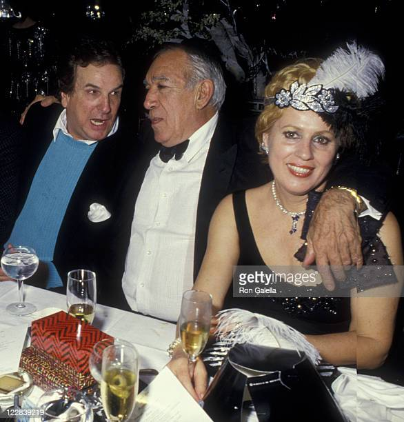 Actor Danny Aiello Anthony Quinn and wife Kathy Quinn attend New Year's Eve Party on December 31 1986 at Regine's in New York City