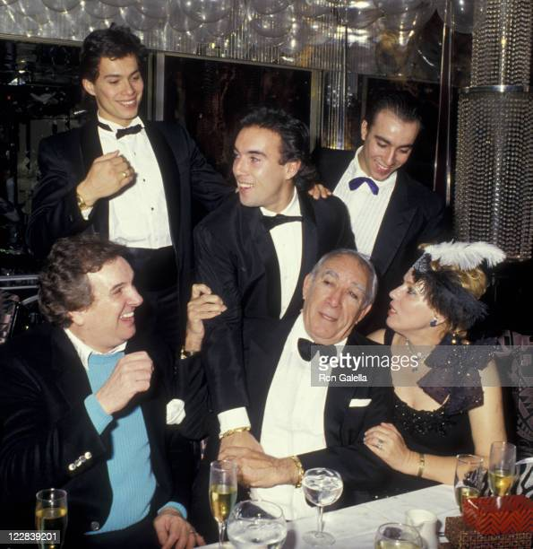 Actor Danny Aiello Anthony Quinn wife Kathy Quinn Alex Quinn Lorenzo Quinn and Francesco Quinn attend New Year's Eve Party on December 31 1986 at...