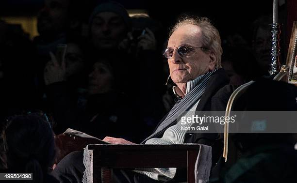 Actor Danny Aiello attends the 2015 Bryant Park Christmas tree lighting at Bryant Park on December 1 2015 in New York City
