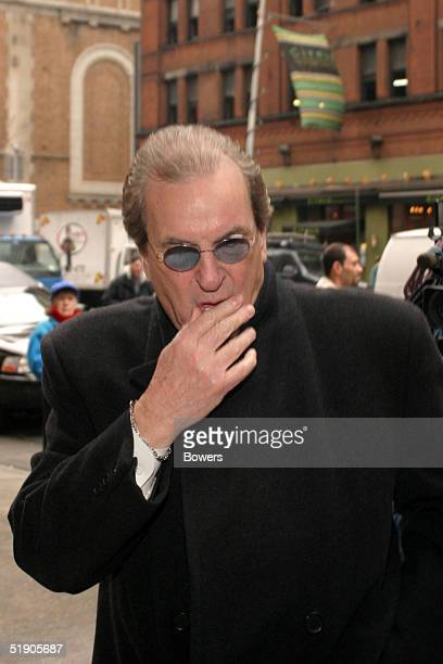 Actor Danny Aiello attends the funeral for Jerry Orbach at Riverside Chapel December 31 2004 in New York City