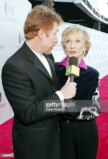 Actor Danny Bonaduce and Actress Cloris Leachman attend the 2nd Annual TV Land Awards held at The Hollywood Palladium March 7 2004 in Hollywood...