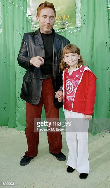 Actor Danny Bonaduce and his daughter Isabella attend the film premiere of Return To Never Land February 10 2002 in Los Angeles CA The film will be...