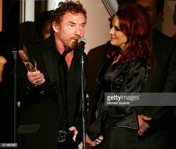 Actor Danny Bonaduce and his wife Gretchen speak onstage during the 10th Annual PRISM Awards at the Beverly Hills Hotel on April 27 2006 in Beverly...
