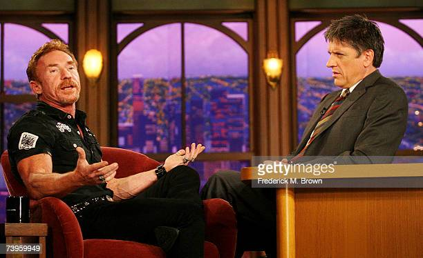 Actor Danny Bonaduce and host Craig Ferguson speak during a segment of The Late Late Show with Craig Ferguson at CBS Television City on April 23 2007...
