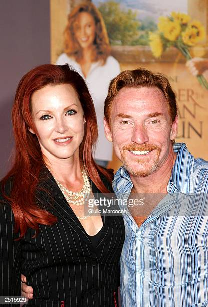 Actor Danny Bonaduce and wife Gretchen arrive at the premiere of Under The Tuscan Sun at the El Capitan theatre on September 20 2003 in Hollywood...